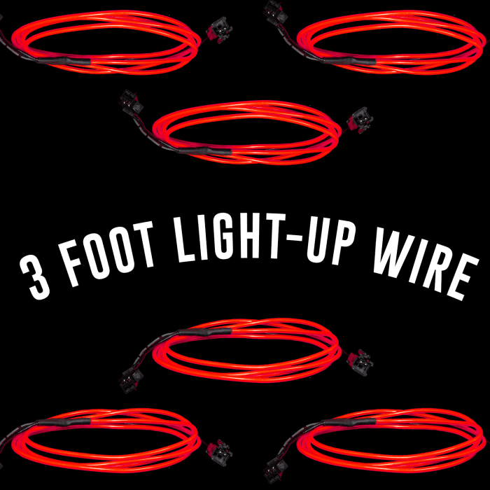 3 Foot Light-Up EL Wire - Red