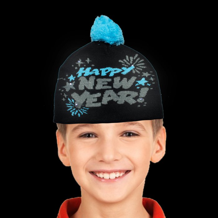 Happy New Year Light-UP Beanie Hat