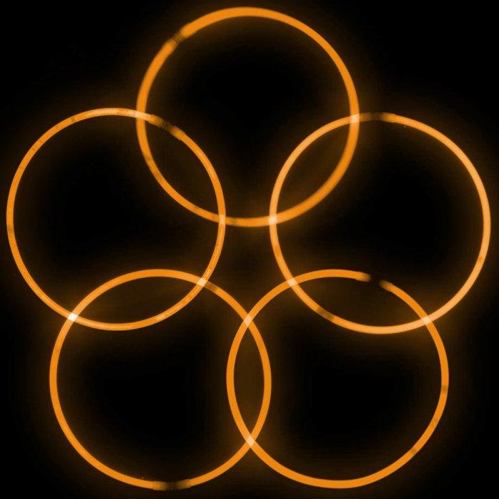 22 Inch Glowstick Necklaces - Orange