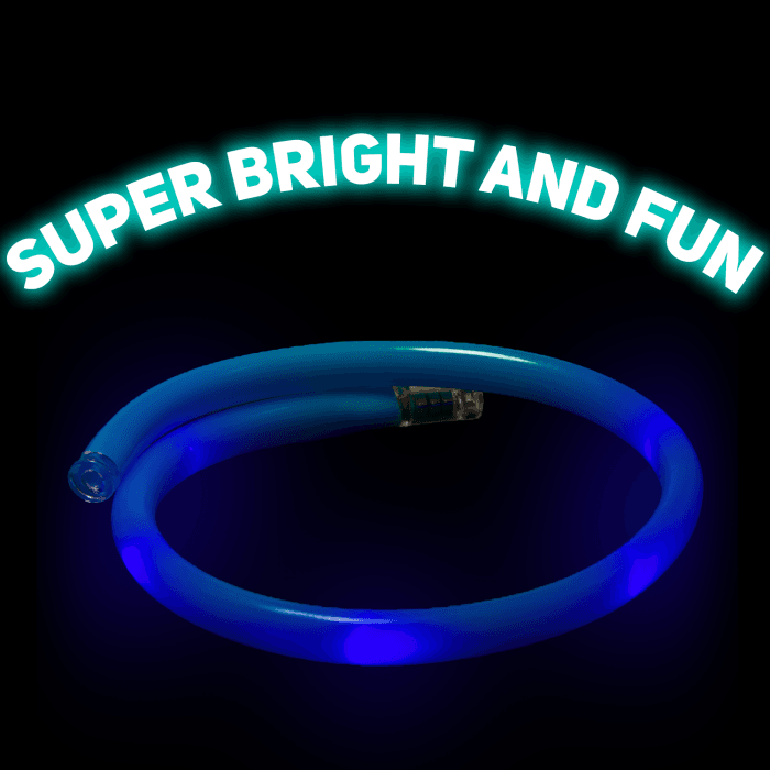 LED Light-up Happy Birthday Necklace Flashing Letters Glow Party Accessory