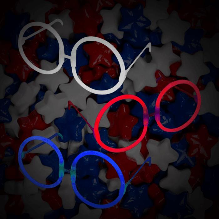 Round Eyeglasses -Red, White & Blue (150 Pack)