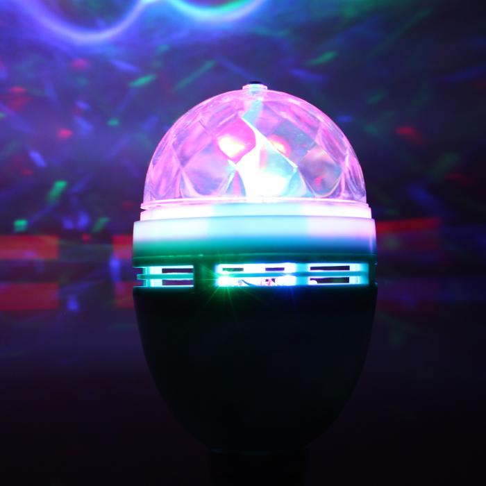 Rotating Disco Ball LED Light Bulb