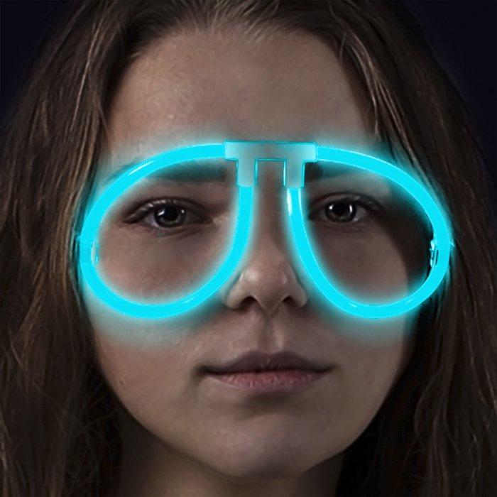 Glow Eyeglasses - Aviator - Aqua