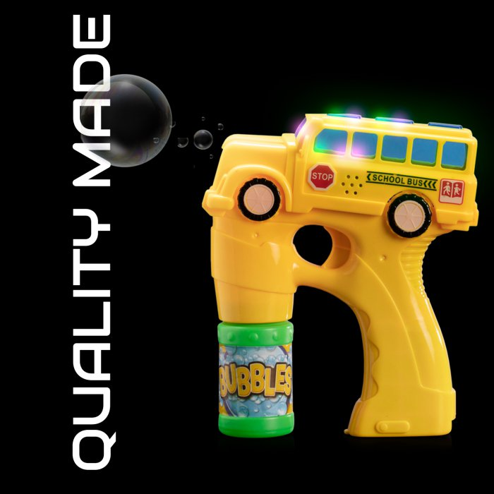 Light And Sound School Bus Bubble Blasters