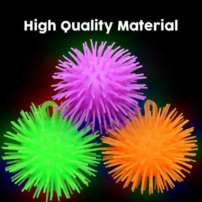 LED Flashing Pom-Pom Balls