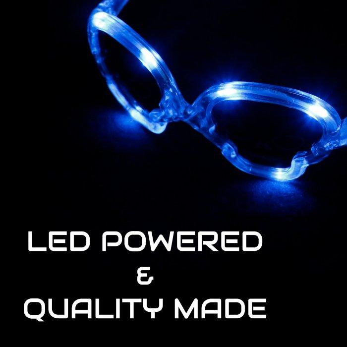 LED Flashing Skull Glasses
