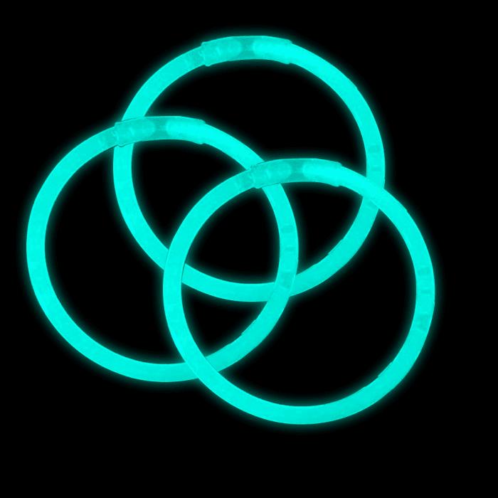 8 Inch Glowstick Bracelets - Aqua