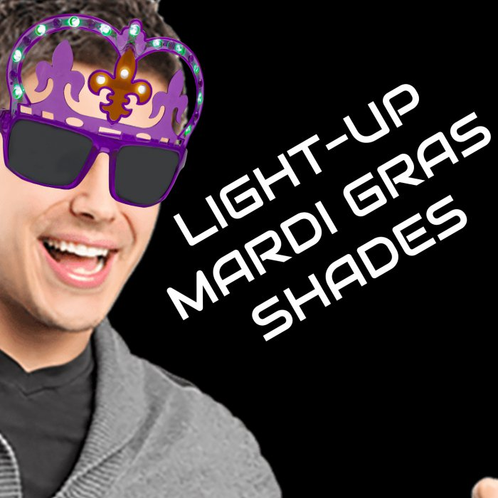 Light-Up Mardi Gras Shades