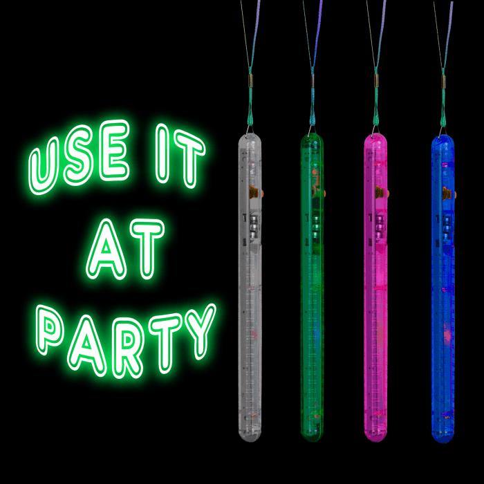 "8"" Light-Up Flashing Rainbow Wands"