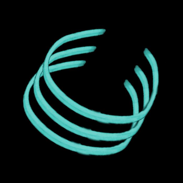 22'' Twister Glowstick Necklaces - Aqua
